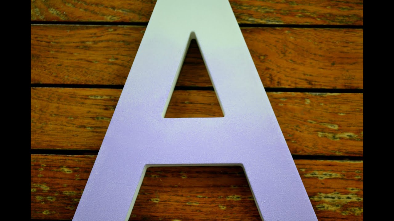 diy easy ombre wooden letter youtube