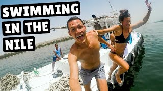 SWIMMING IN THE NILE | Egypt River Cruise Days 3 & 4