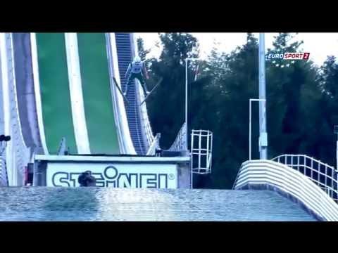 Phillip Sjoeen - Einsiedeln 2014 - 115.0m (fall!) [HD]