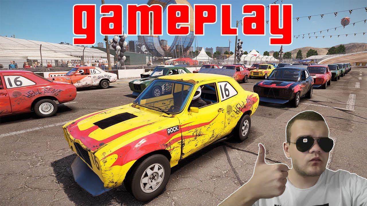 WreckFest Gameplay high speed car on new map