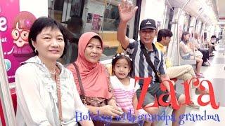 Zara dari bandara Soeta menuju ke Changi Airport ?? holiday with Grandma Grandpa and Mama