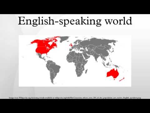 the english speaking world English is the most spoken language in the world beyond its native countries and becoming a global language by most accounts according to a recent study, there are more than 700 million (exact 733,891,307) english speakers in the worldwide today including both native speakers and as the second language.