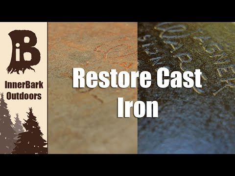 CAST IRON RESTORATION | Completely Remove Rust + Seasoning TIPS