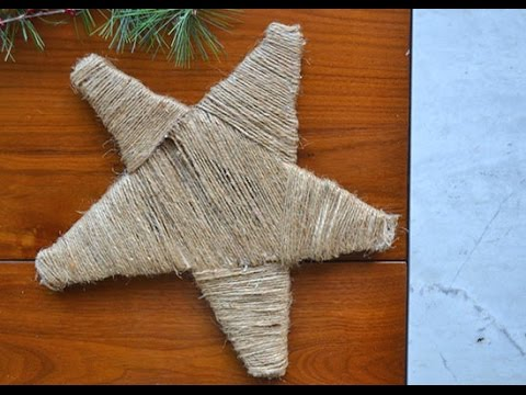 DIY Rustic Jute Star Wall Hanging