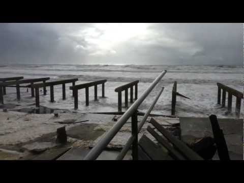 Hurricane Sandy - Far Rockaway Boardwalk Destroyed