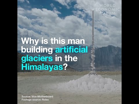 Why is this man building artificial glaciers in the Himalayas