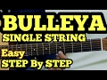 Bulleya Guitar Tabs/intro/Lead Lesson | SINGLE STRING | Ae Dil Hai Mushkil | fuZaiL Xiddiqui