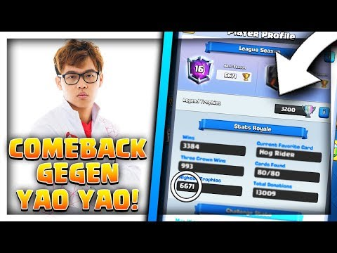 COMEBACK GEGEN YAOYAO (6600 TROPHY RECORD) | Highladder Gameplay | Clash Royale