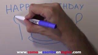 Cómo se escribe en inglés feliz cumpleaños