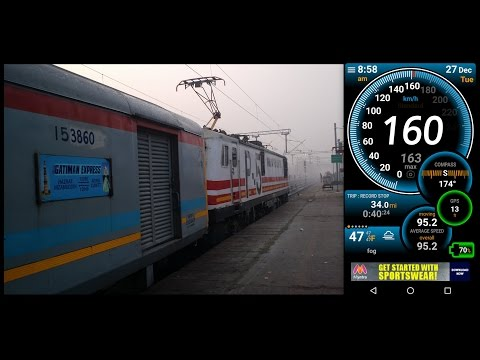 160 Kmph GATIMAN EXPRESS : DELHI - AGRA, The Fastest Train Journey of India