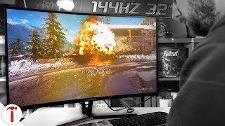 "Monitor gaming AOPEN 32"" curvo 144hz a 350 Euro"