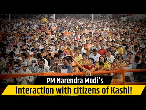 PM Narendra Modi's interaction with citizens of Kashi!