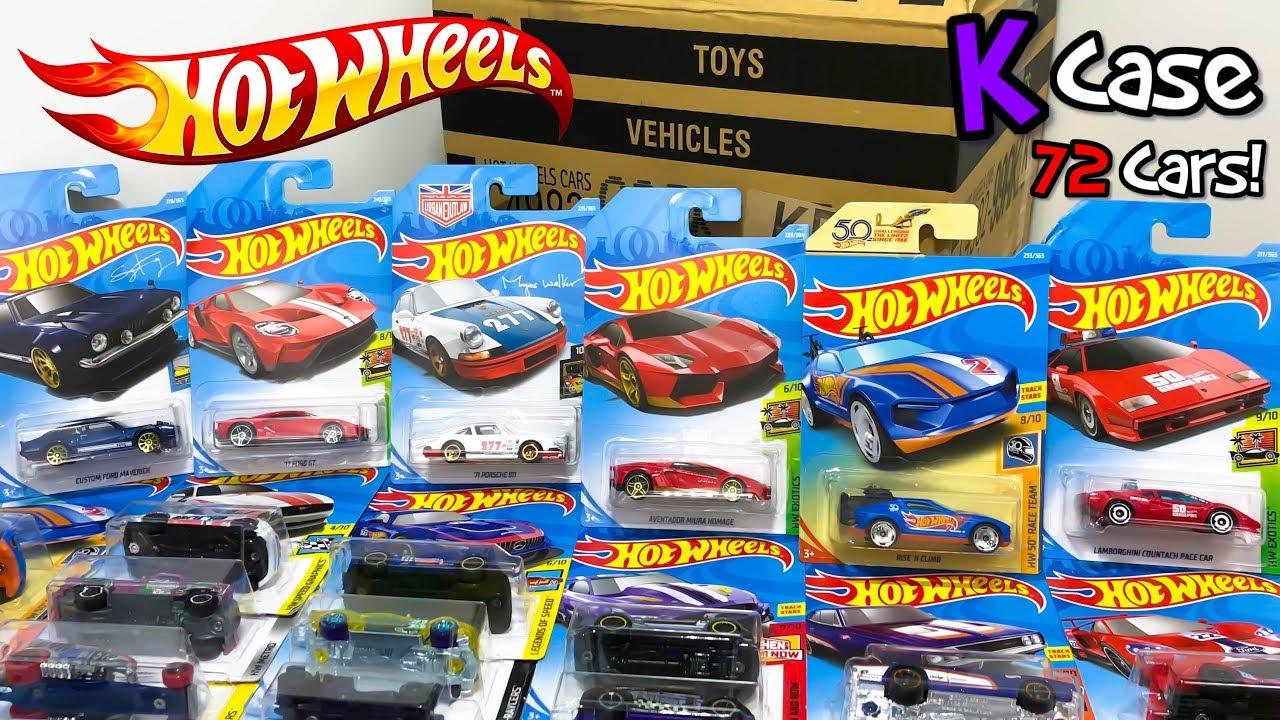 unboxing hot wheels 2018 k case 72 car assortment youtube. Black Bedroom Furniture Sets. Home Design Ideas