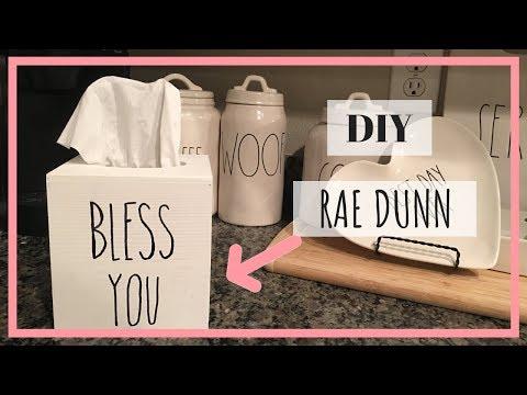 DIY Rae Dunn Inspired Tissue Box Holder