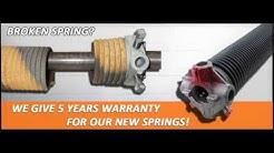 Broken Garage Door Spring Repair Chandler Az 480-295-8833