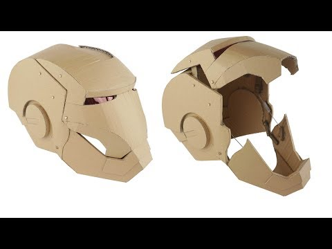 How To Make IronMan Transformers Mask - Hydraulic Cardboard