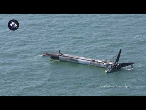 Floating SpaceX CRS-16 Falcon 9 Recovery Ops 4K VIDEO!