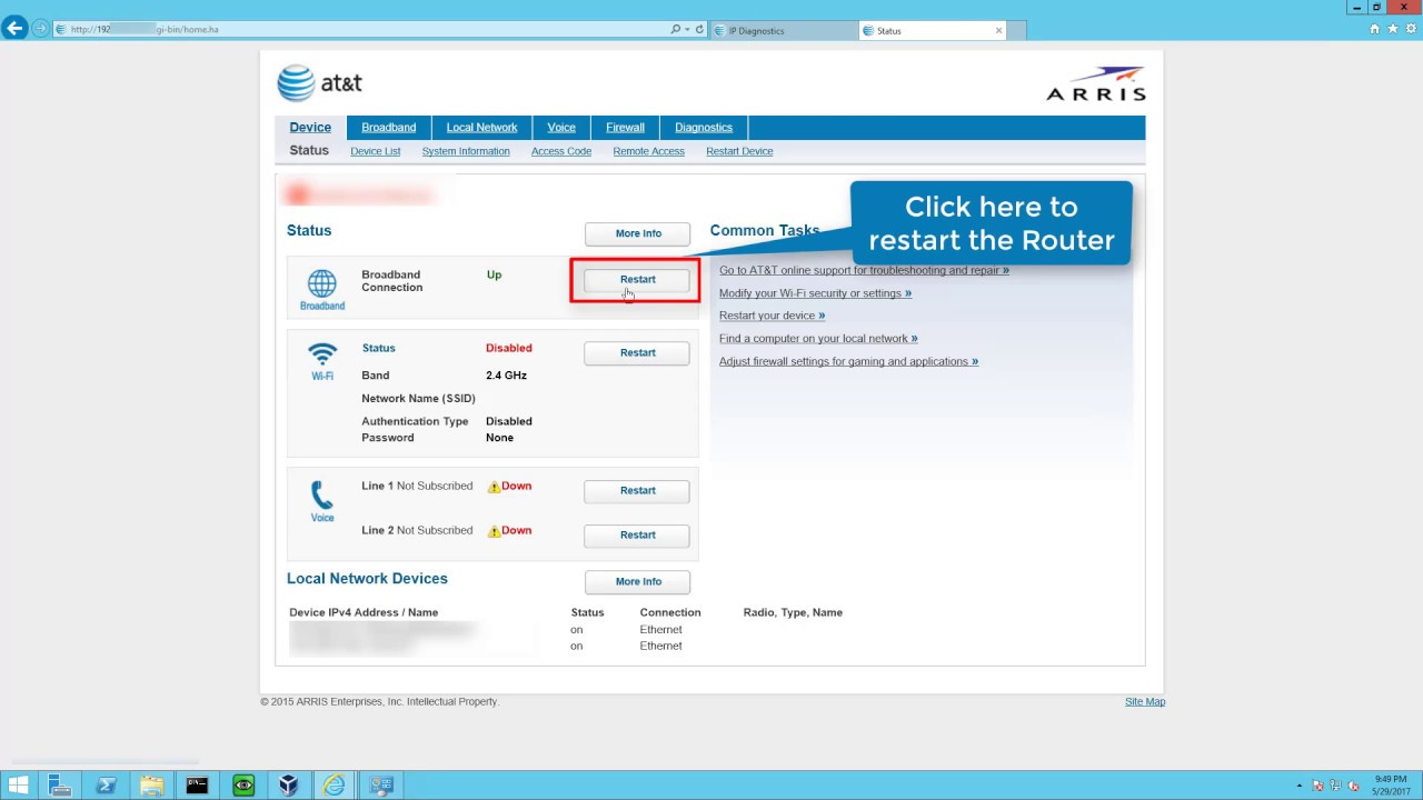 How to fix at&t broadband service is not available (Message ID: DNS down)