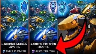 BIG 4 STAR SHARTICON CRYSTAL OPENING! SHARK CRYSTALS! - TRANSFORMERS : Forged To Fight