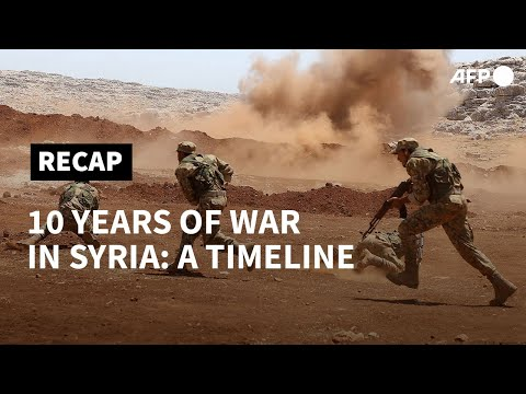 10 years of war in Syria: a timeline   AFP