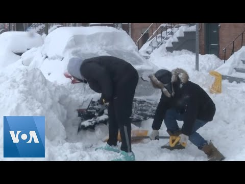 Albany Hit Hard By Snowstorm Ravaging Northeastern United States