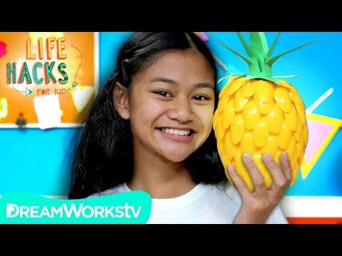 DIY Pineapple Lamp | LIFE HACKS FOR KIDS