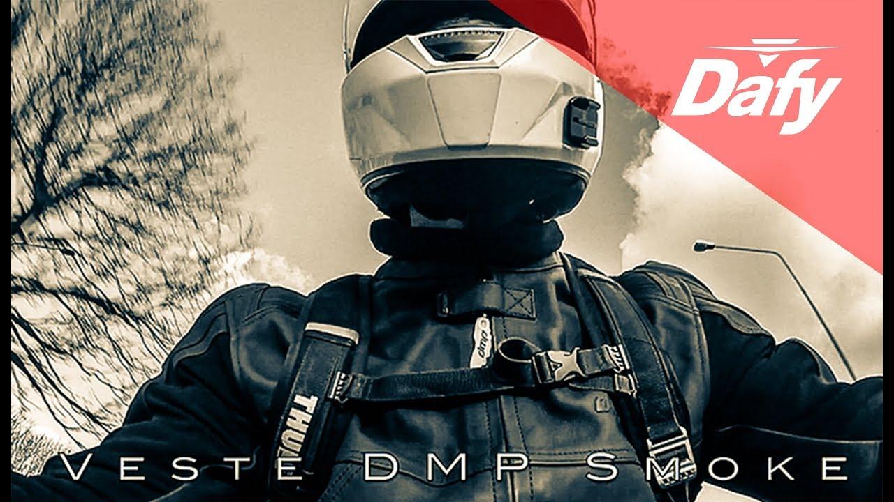 Cuir Dmp Dafy Youtube Smoke Moto Veste wAdqBw