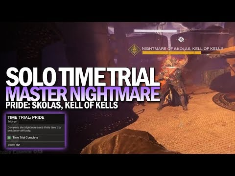 Solo Time Trial: Pride Triumph (Flawless Master Nightmare Hunt Time Trial) [Destiny 2]