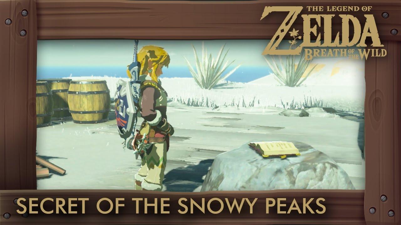 Zelda Breath of the Wild - Secret of the Snowy Peaks Sh