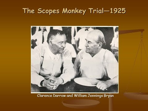Origins: The Scopes Monkey Trial -- Part 1