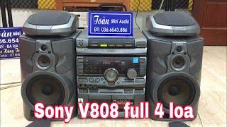 Dàn trung Sony V808 - Full 4 loa chơi  đa dạng - Giá 2Tr9 - LH 036.6543.886