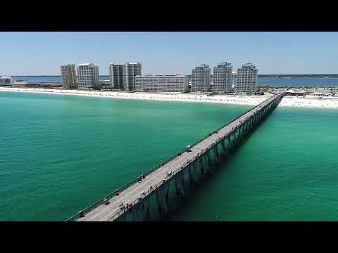 Aerial view of Navarre Beach
