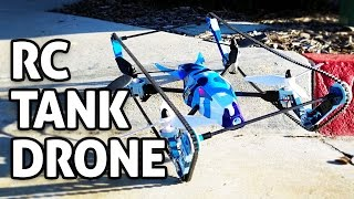 RC Tank + Drone Toy! REVIEW (WLTOYS 2-in-1 w/ FPV Camera Built-in)