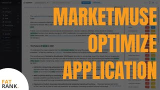 MarketMuse Optimize Application |  AI Content Optimization Software