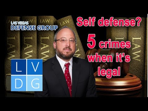 5 crimes where you can assert self-defense in Nevada