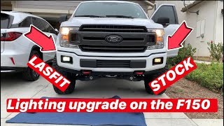 LASFIT LED LIGHTING UPGRADE on my Ford F150! How to install and bulb comparison to stock lights