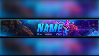 *NEW* FORTNITE JELLIE SKIN YOUTUBE BANNER PSD *FREE* DOWNLOAD