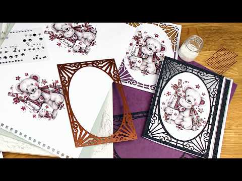 Greyscale Bears Paper Craft Collection for Card Making