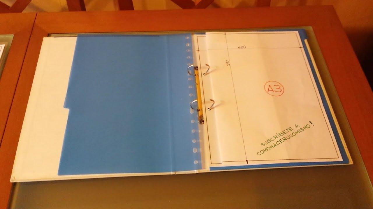 Falten Von Pl U00e4nen A3 Nach A4 F U00fcr Ringbuch