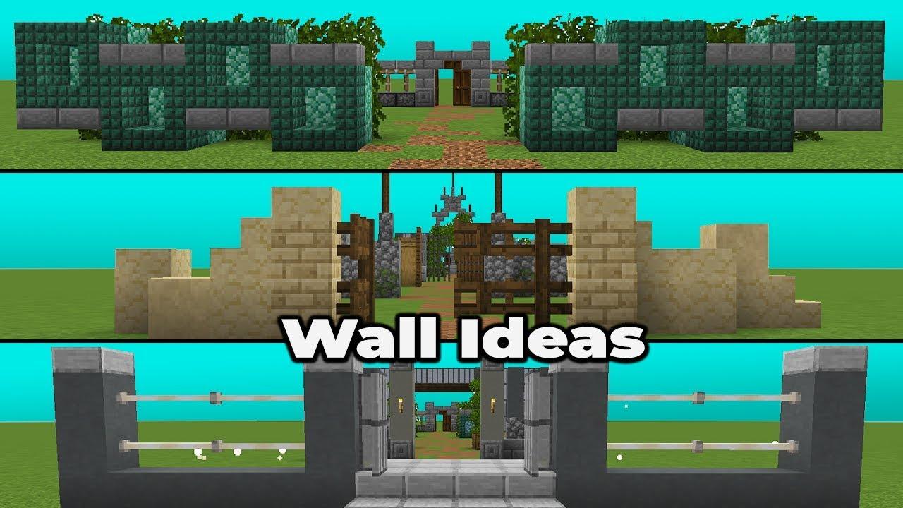 Simple Wall Ideas  U0026 Designs For Minecraft 1 14