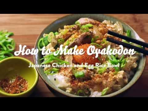 How to Make Oyakodon (Japanese Chicken and Egg Rice Bowl) - YouTube