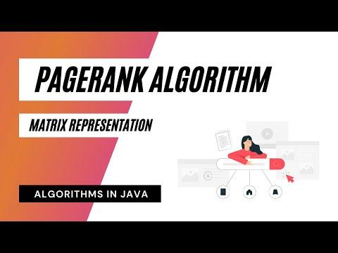 PageRank Algorithm - Matrix Representation