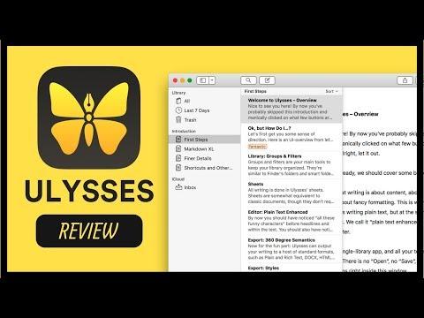 Ulysses: Best Mac/iOS Writing App?! 🦋