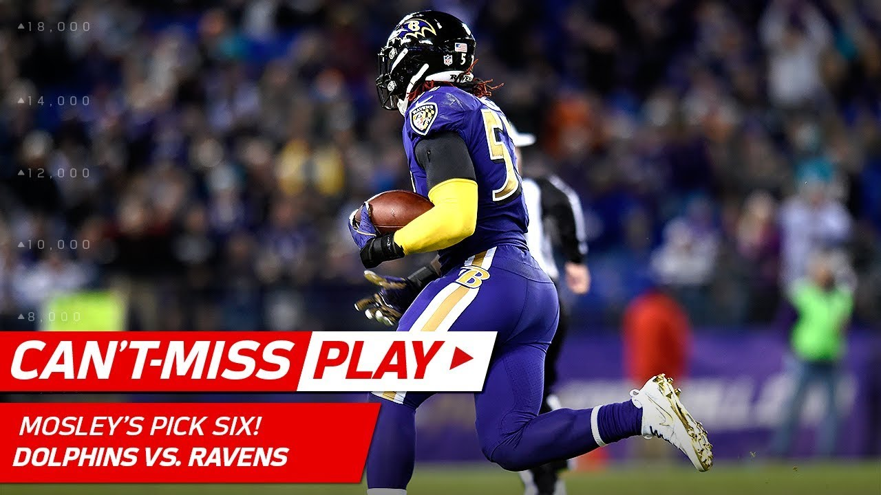 C J Mosley Snags the INT & Takes It to the House