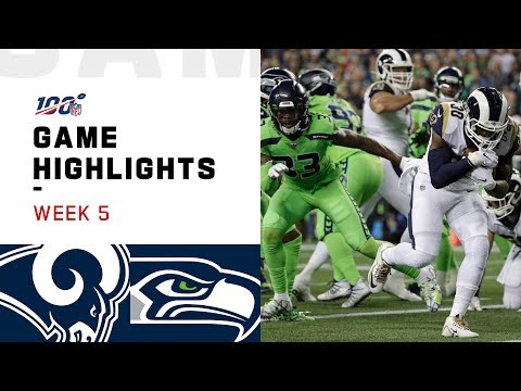 Rams vs. Seahawks Week 5 Highlights | NFL 2019