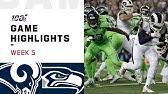 Rams vs. Seahawks Week 5 Highlights | NFL 2019
