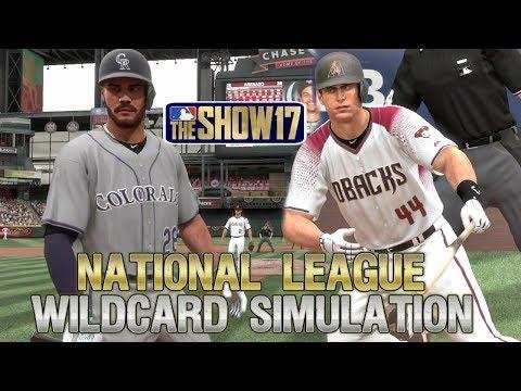 MLB The Show 17   2017 National League Wildcard Playoff Sim Arizona Diamondbacks vs Colorado Rockies