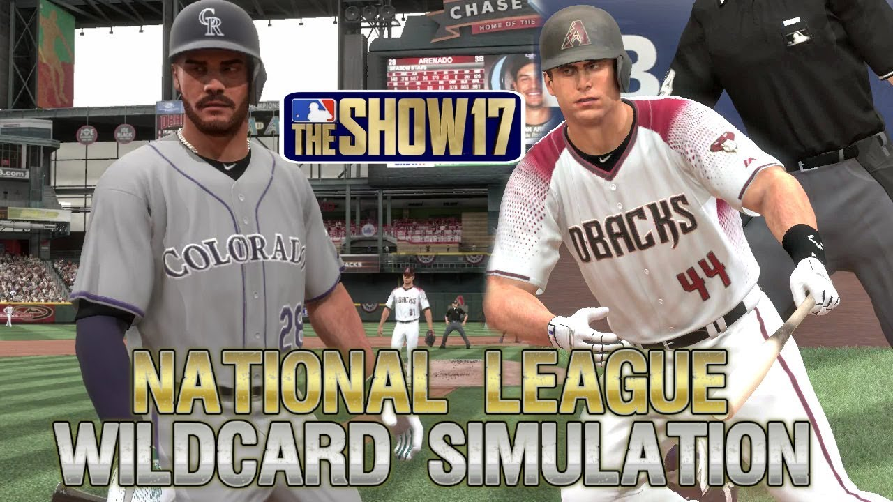 MLB The Show 17 | 2017 National League Wildcard Playoff Sim Arizona Diamondbacks vs Colorado Rockies