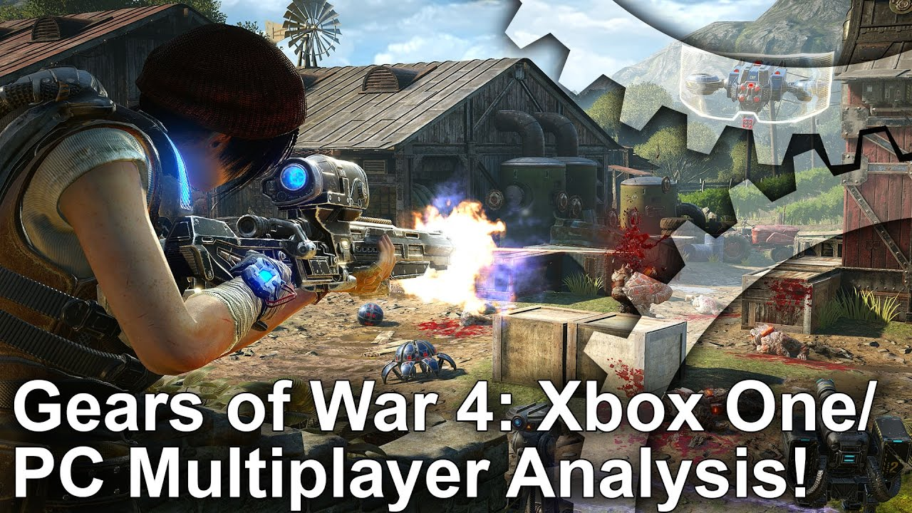 Gears of War 4 Xbox One/PC Multiplayer/Horde Mode Analysis + Frame-Rate Test