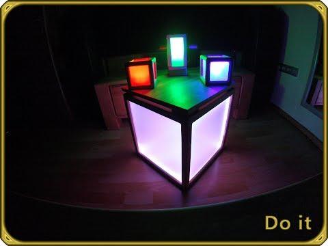 Leuchtwürfel Hocker selber bauen Teil 4/4 | Sitzwürfel Led Anleitung | Beistelltisch selber bauen